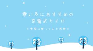 韓国・冬の防寒対策に必須『充電式カイロ』のすすめ